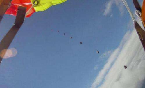Video: Norwegian skydiver almost gets hit by falling meteor