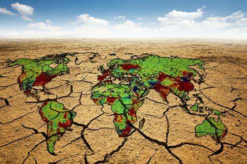 Water scarcity and climate change through 2095