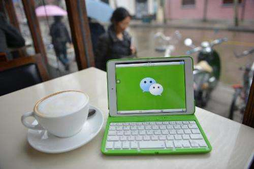 "WeChat, called ""weixin"" in Chinese, is owned by Shenzhen-based Tencent, and had 468 million monthly active users in th"