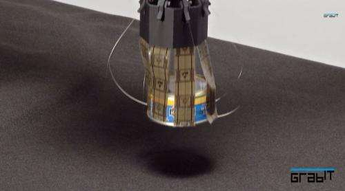 Grabit uses electroadhesion for good grip on objects