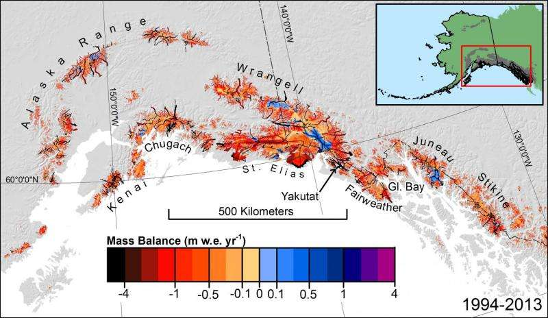 Alaska glaciers make large contributions to global sea level rise
