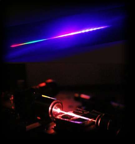 A photonic crystal fibre generates light from the ultraviolet to the mid-infrared