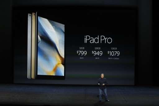 Apple Senior Vice President of Worldwide Marketing Phil Schiller speaks about the iPad Pro on September 9, 2015 in San Francisco
