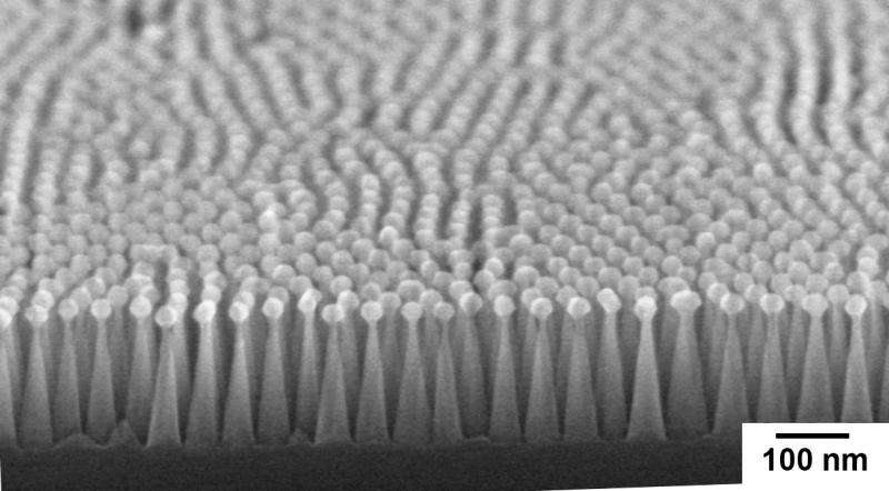 Artificial moth eyes enhance the performance of silicon solar cells