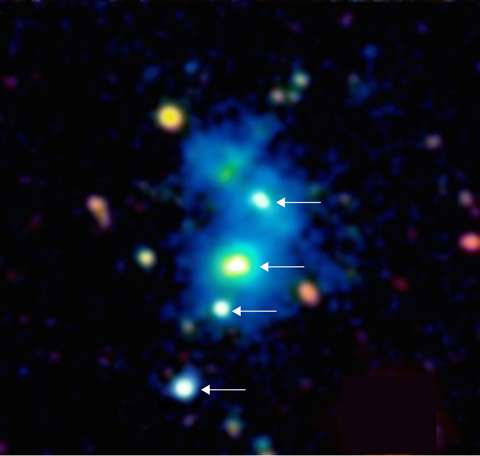 Astronomers Baffled by Discovery of Rare Quasar Quartet