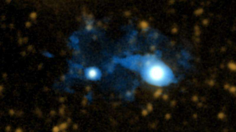 Caltech astronomers unveil a distant protogalaxy connected to the cosmic web