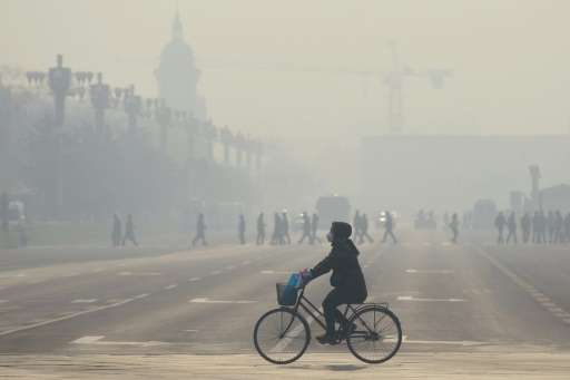 Chinese cities have been choked in thick smog with Beijing declaring its first maximum red pollution alert earlier this month