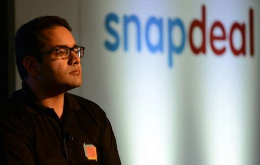 Co-founder and CEO of Snapdeal Kunal Bahl attends a press conference in New Delhi on July 15, 2015