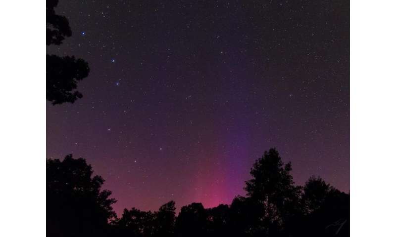 Earth-directed CME lights the skies