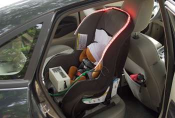 Engineers design car seat accessory to save children left in dangerously hot cars