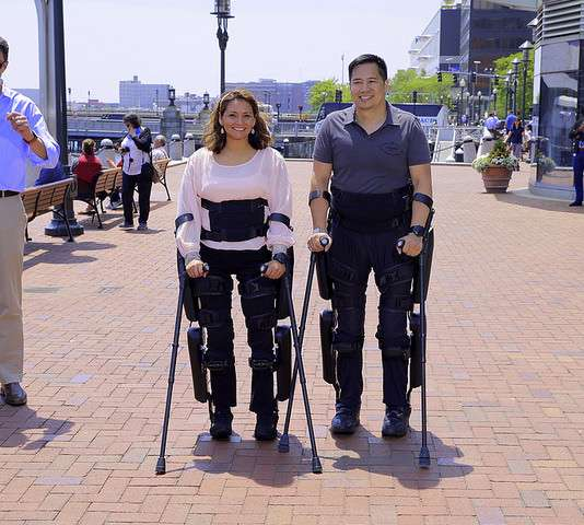 Exoskeleton keeps up with flow on the streets of New York