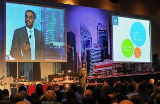 Fadi Chehade, president of the Internet Corporation for Assigned Names and Numbers (ICANN), pictured at an event in Singapore, s