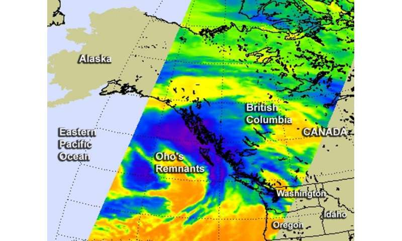 Former Hurricane Oho's remnants affecting western Canada, Washington state
