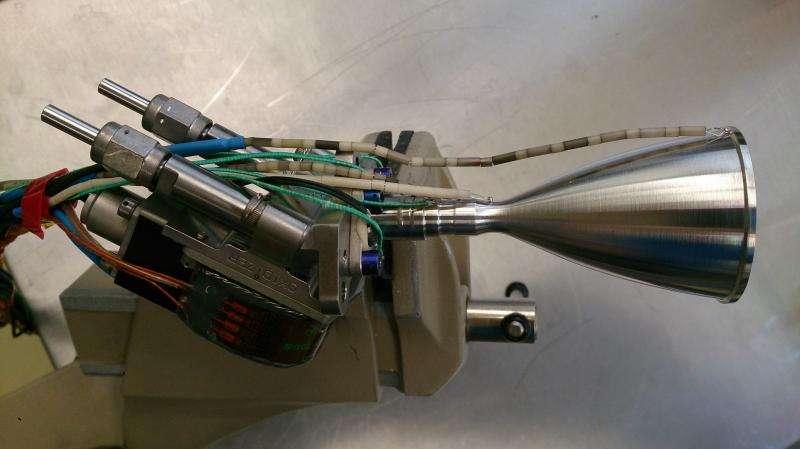 Hot firing of world's first 3D-printed platinum thruster chamber