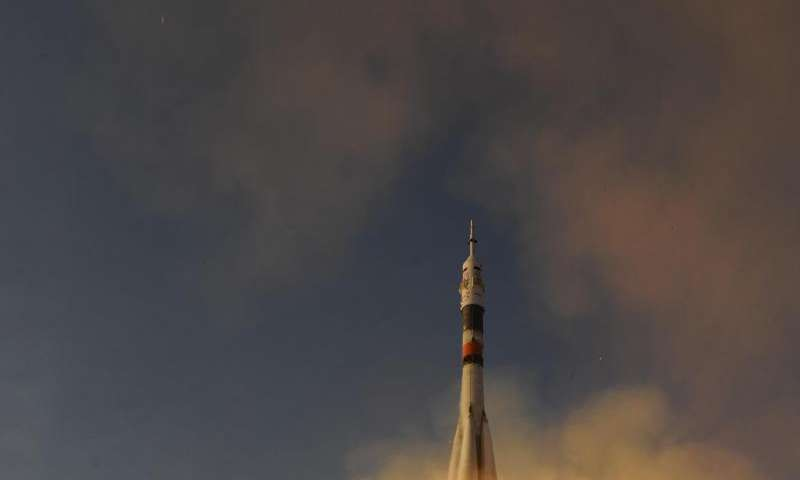 Image: Launch of Soyuz TMA-19M to the ISS