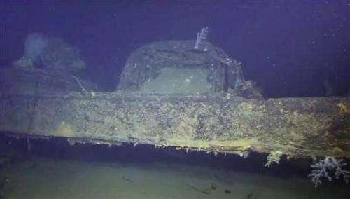 Japanese battleship blew up under water, footage suggests