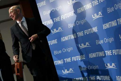 Jeff Bezos, the founder of Blue Origin and Amazon.com, pictured September 17, 2014, said the unmanned New Shepard rocket blasted
