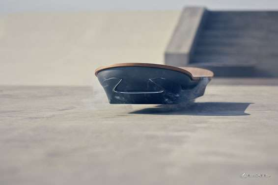 Lexus unveils smoking hoverboard, uses magnetic levitation