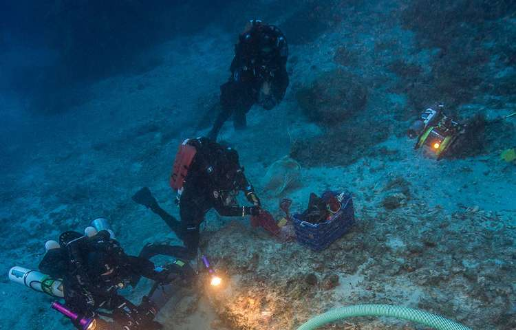 Marine archaeologists excavate Greek Antikythera shipwreck