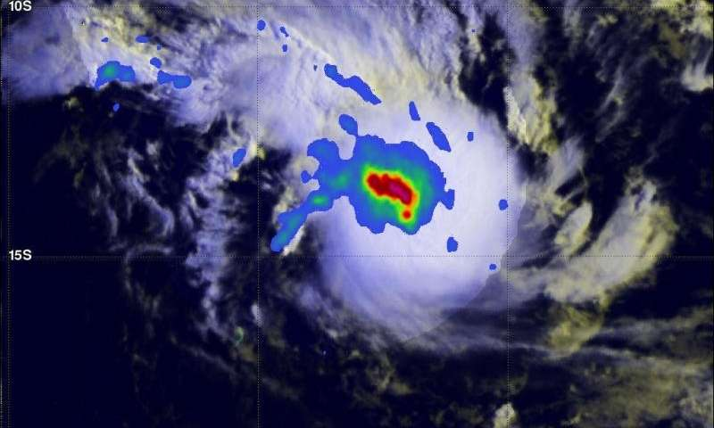 NASA analyzes rainfall in Tropical Cyclone Joalane