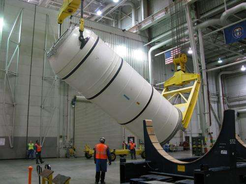 NASA marching towards milestone test firing of space launch system booster