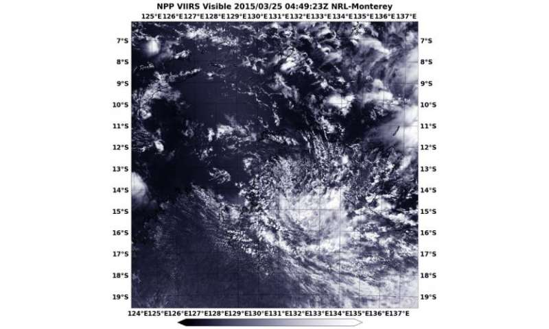 NASA-NOAA satellite sees semnants of ex-Tropical Cyclone Nathan