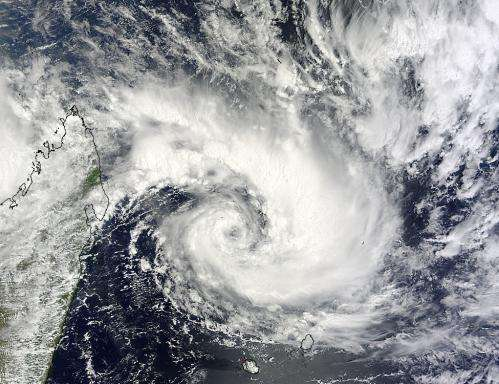 NASA's Aqua satellite spots Tropical Cyclone Bansi intensifying quickly