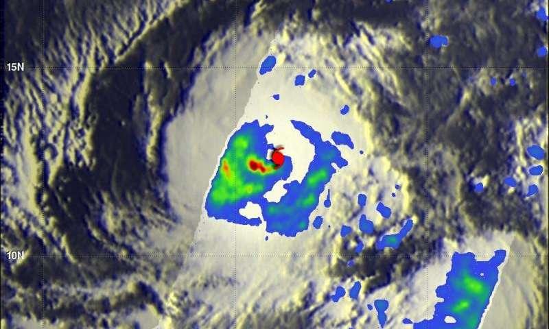 NASA's GPM sees heavy rain in Hurricane Ignacio