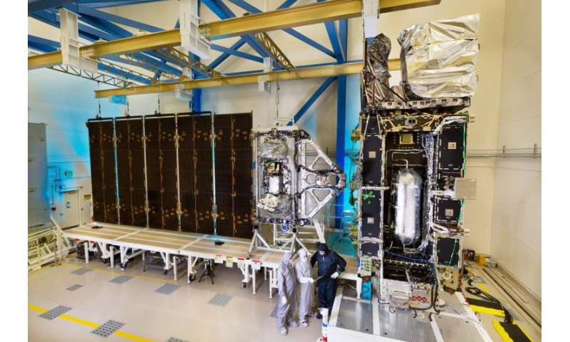 NOAA's GOES-R satellite solar array spreads its wing