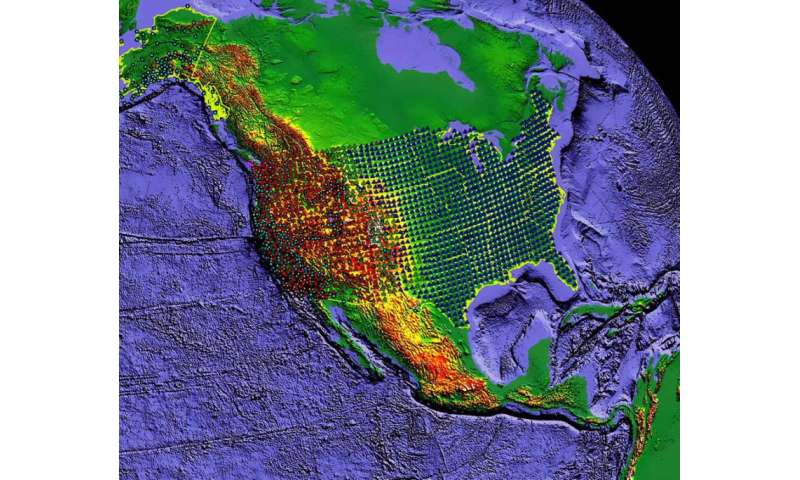 NSF-funded Earthscope GPS Array across the United States