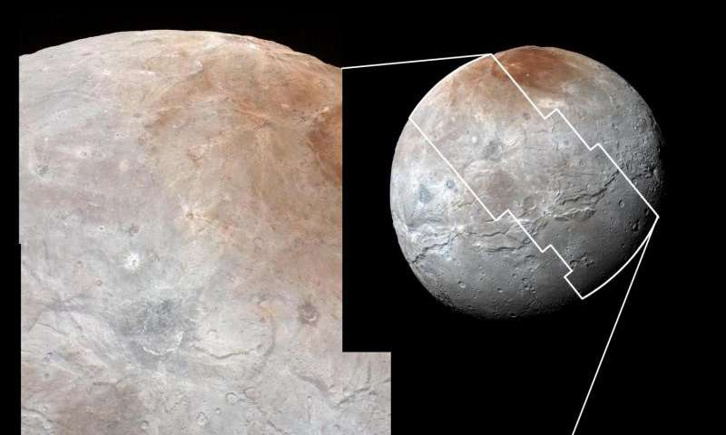 Pluto's Big Moon Charon Reveals a Colorful and Violent History