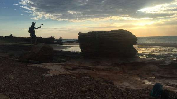 Rare tidal movements expose Kimberley dinosaur tracks