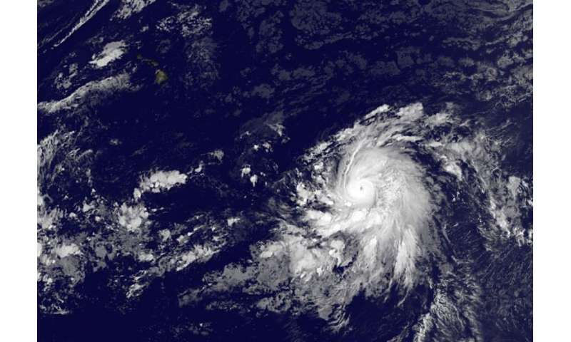 Satellite animation shows Olaf grow into a major hurricane