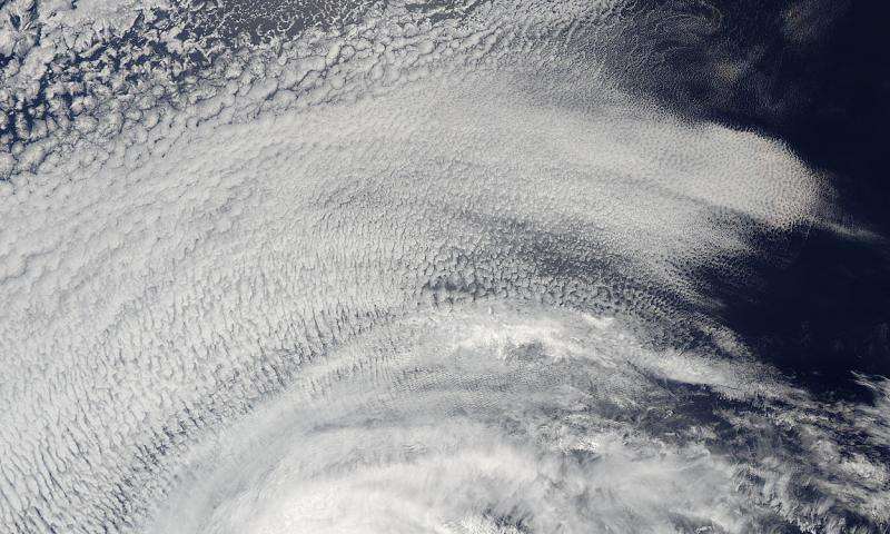 Satellite movie shows Andres weaken to a tropical storm
