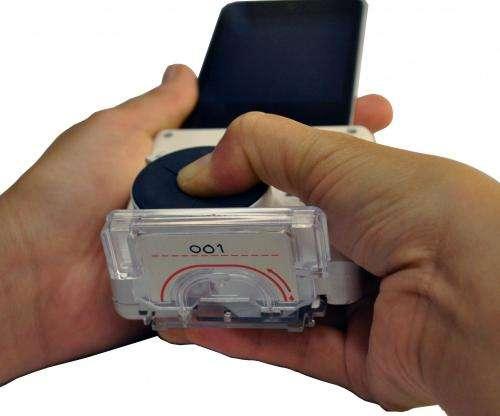 Smartphone, finger prick, 15 minutes, diagnosis -- done!