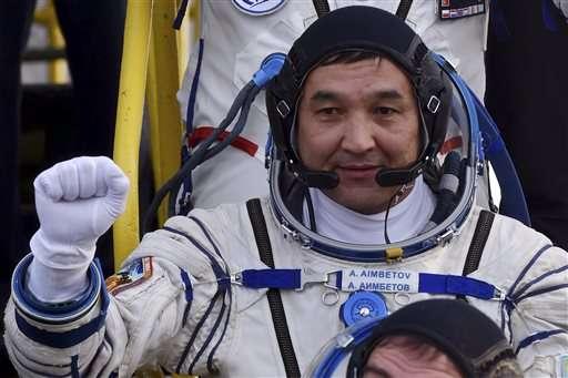 Soyuz with Russian, Dane, Kazakh docks at space station