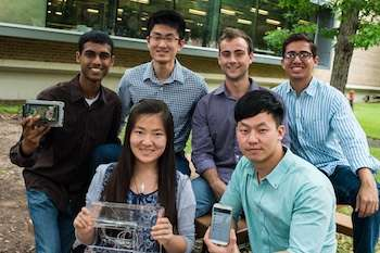 Students create smartphone app to connect heart patient, pump, doctor