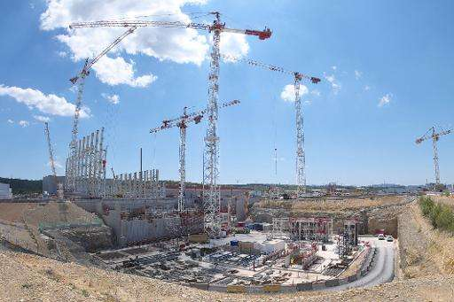 The construction site of the International Thermonuclear Experimental Reactor (ITER) in Saint-Paul-les-Durance, southern France,