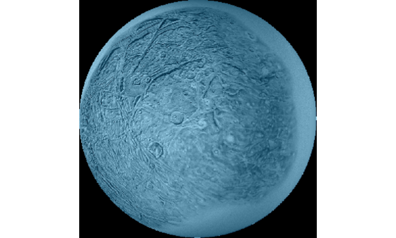 "Uranus' ""sprightly"" moon Ariel"