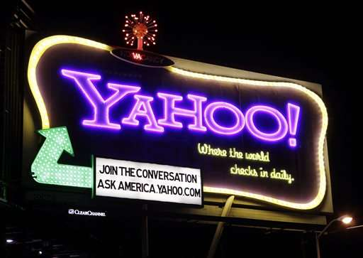 Yahoo up on report of possible sale of Internet business