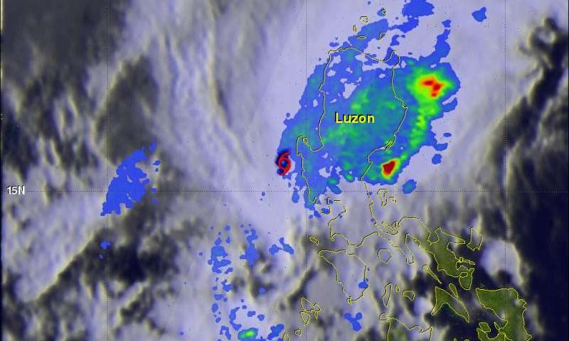NASA looks at Tropical Cyclone Melor's rainfall and dissipation