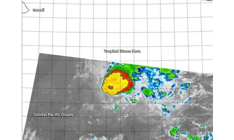 NASA-NOAA's Suomi NPP gets an infrared look at Tropical Storm Nora