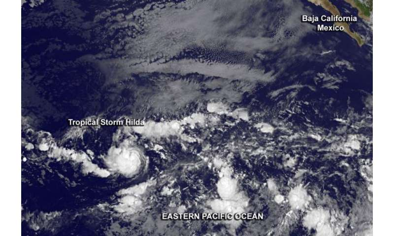 Satellite sees formation of Eastern Pacific's Tropical Storm Hilda