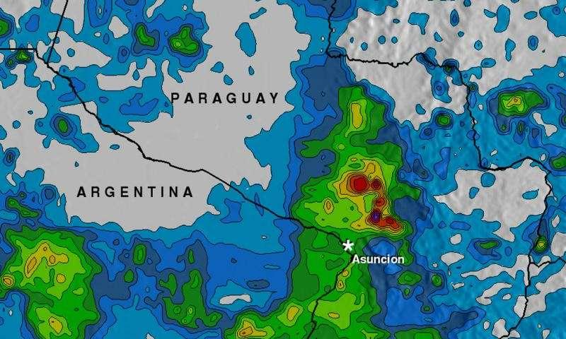 NASA analyzes Paraguay's heavy rainfall