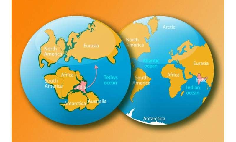 Researchers explain mystery of India's rapid move toward Eurasia 80 million years ago