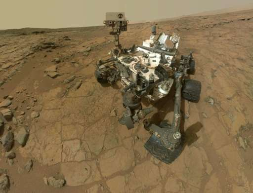 This image released by NASA on February 7, 2013 shows a self-portrait of NASA's Mars rover Curiosity