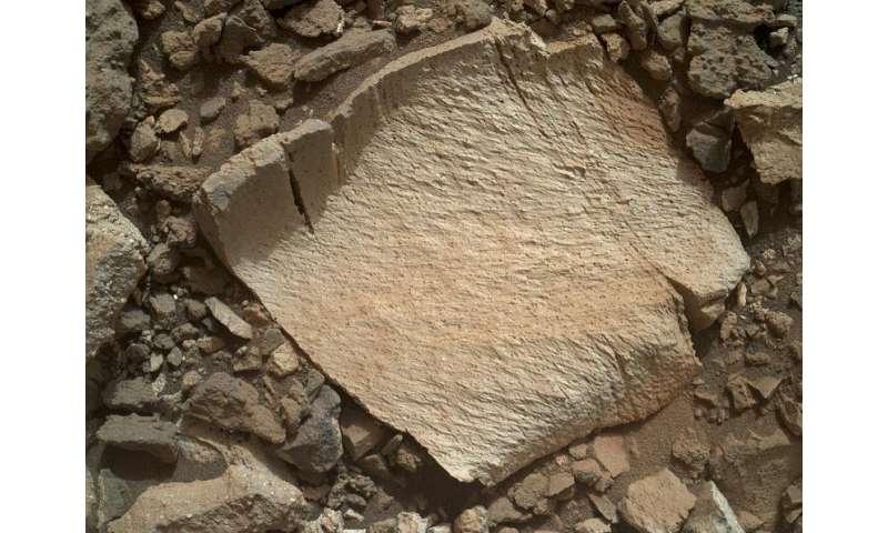 NASA's Curiosity rover inspects unusual bedrock