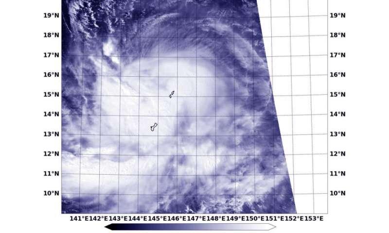 NASA-NOAA's Suomi NPP satellite sees Tropical Storm Champi affecting Guam