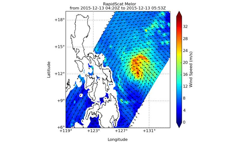 NASA sees Typhoon Melor make landfall in Philippines