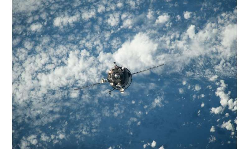 Space station refuelling craft is out of control and plunging to earth
